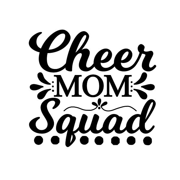 Cheer mom squad | Free download Iron on Transfer Sarcastic Quotes T- Shirt Design in Png