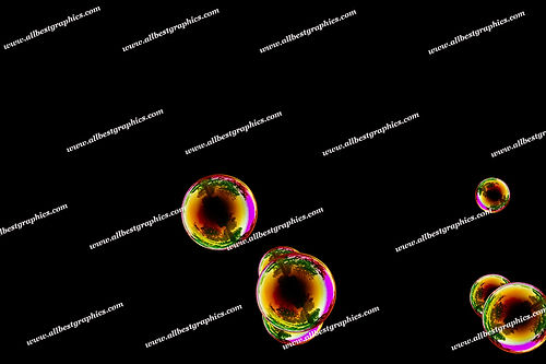 Whimsical Rainbow Bubble Overlays | Stunning Photo Overlays on Black
