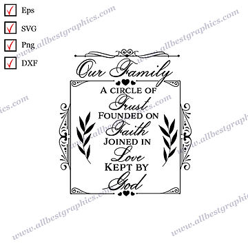 Our Family   Cool Quotes Christmas Design Easy-to-Use Cut files
