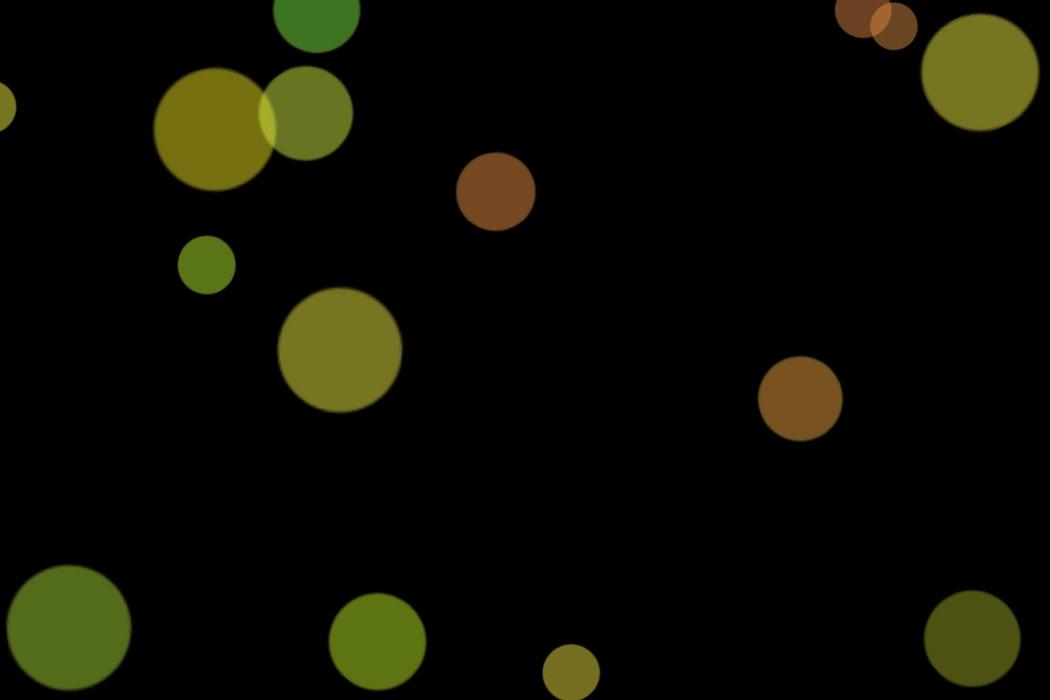 Romantic Festival Light Bokeh Overlay on black background | Photoshop Overlays