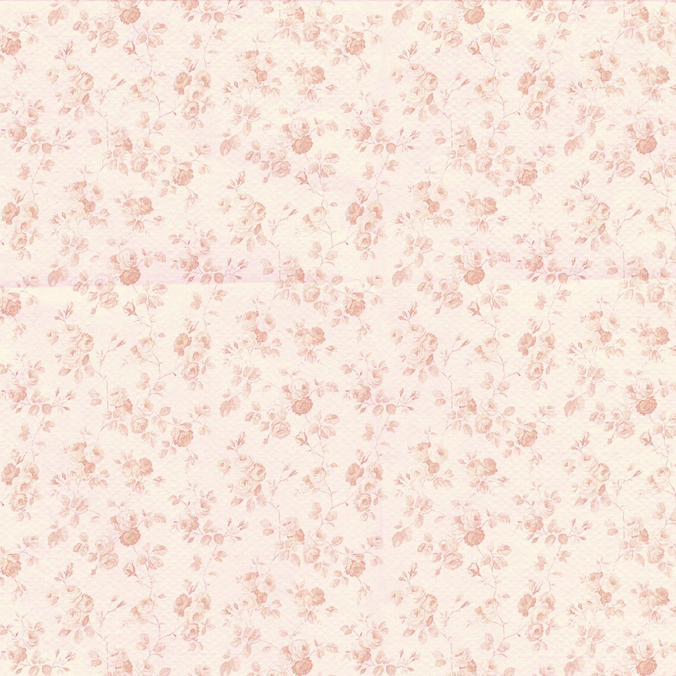 Spring floral digital paper with pink flowers | Printable Digital Paper