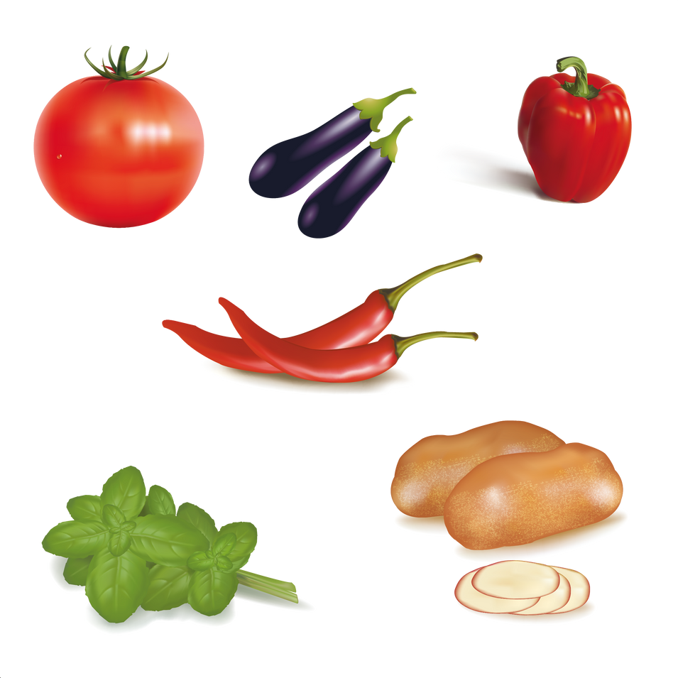 Great natural and ripe fruits & vegetables digital collection  - Food clipart free download 2400x2400 png