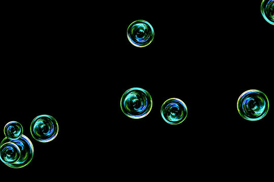 Glorious realistic soap bubbles on black background   Photoshop Overlay