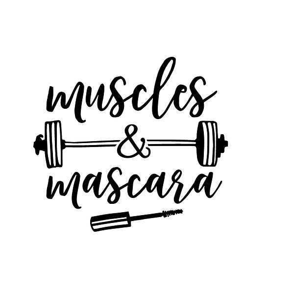 Muscles and mascara Png | Free download Iron on Transfer Sassy Quotes T- Shirt Design in Png