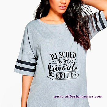 Rescued Is My Favorite Breed   Cool Quotes & Signs about PetsCut files inSvg