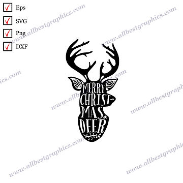 Merry Christmas Deer | Best Cool Quotes Vector Clip Art Christmas Template
