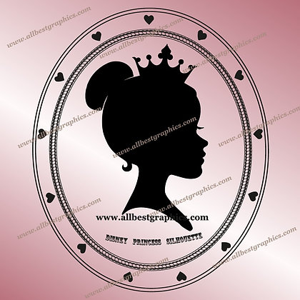 Disney Princess Silhouette Clipart | Disney Characters Cut Files
