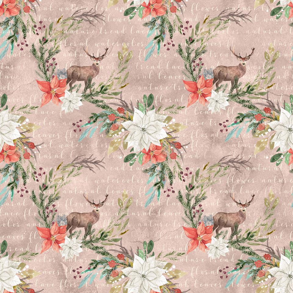 Luxurious watercolor digital paper with roses | Scrapbook Digital Paper