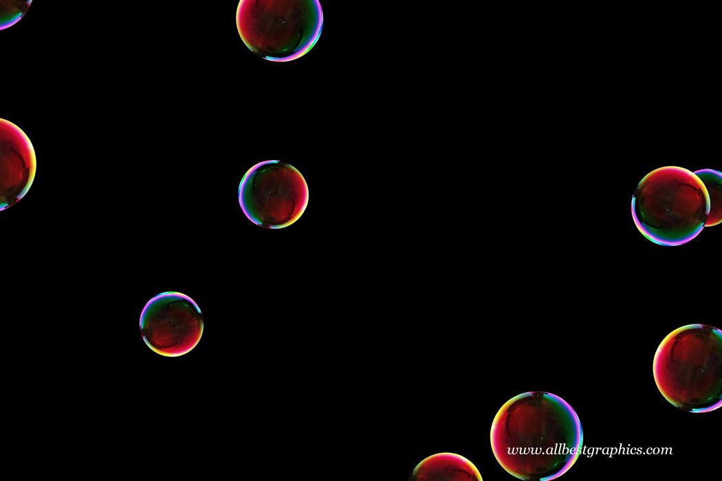 Wondrous bathroom soap bubbles on black background | Bubble Photo Overlay