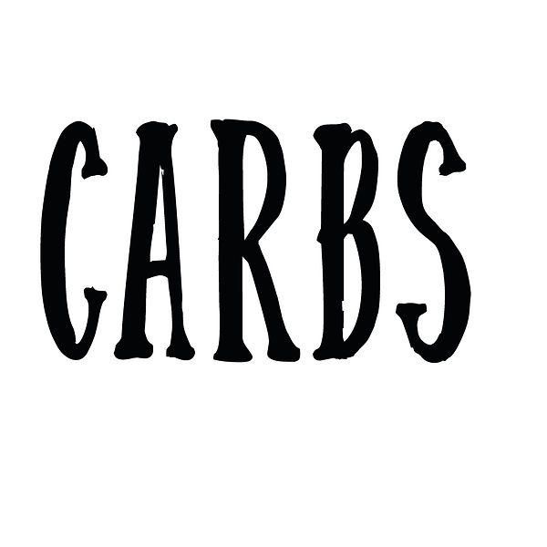 Carbs | Free Iron on Transfer Cool Quotes T- Shirt Design in Png