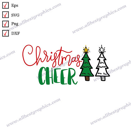 Christmas Cheer | Funny Sayings Vector Clipart Christmas Template Cut files