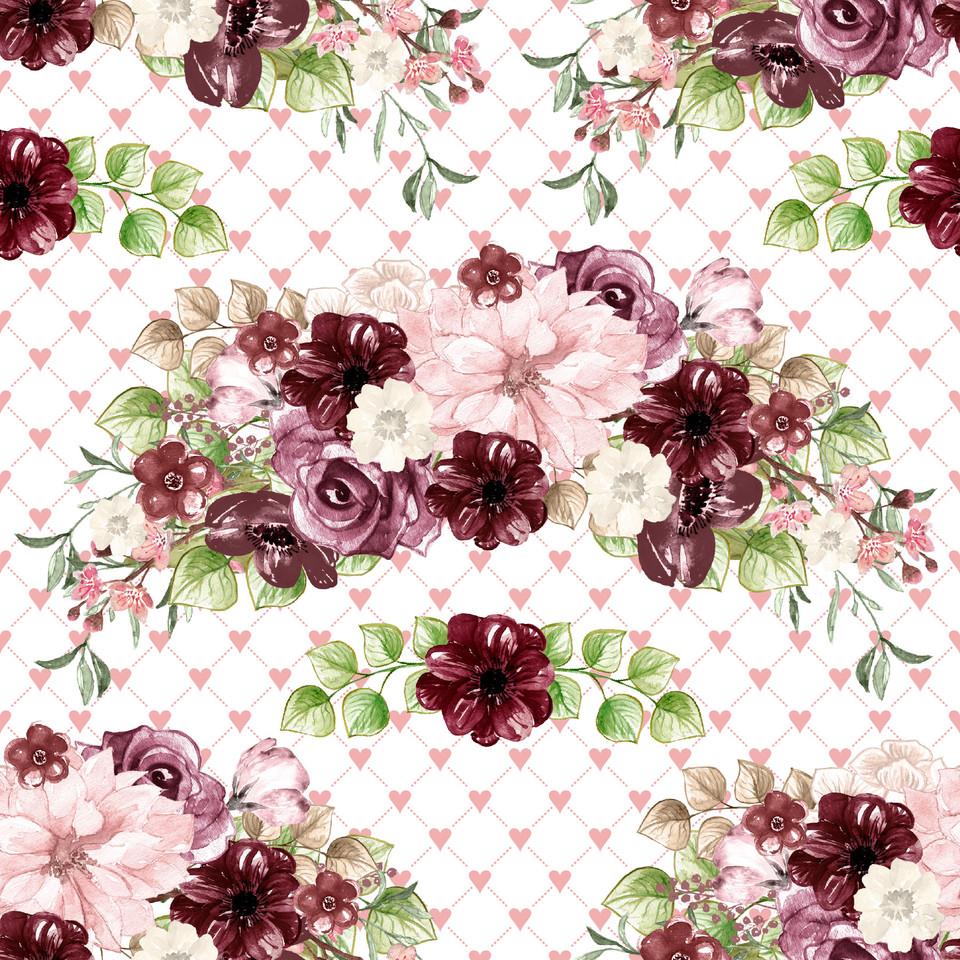 Gorgeous watercolor digital paper with floral design   Scrapbook Paper
