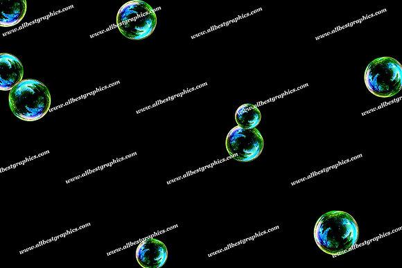 Summer Colorful Bubble Overlays | Fantastic Photoshop Overlays on Black