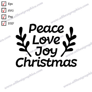 Peace Love Joy Christmas | Cool Quotes Christmas Decor Ready-to-Use Cut files