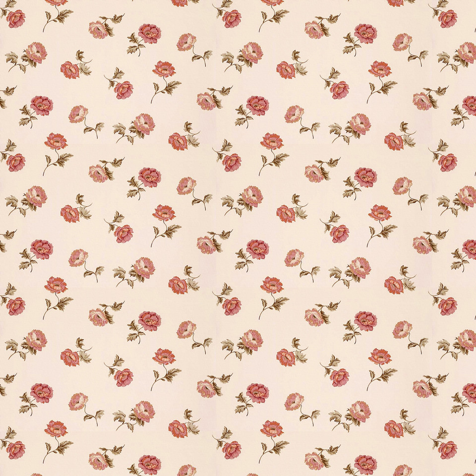 Shabby chic floral digital paper with peonies | Hand Painted Paper