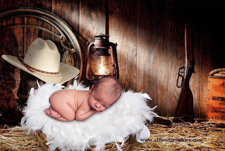 Cowboy | Newborn digital backdrop | Photo props | Photoshop background