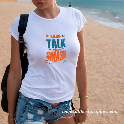Less Talk More Smash |  Slay and Silly Sport Quotes & Signs in Eps Svg Png Dxf