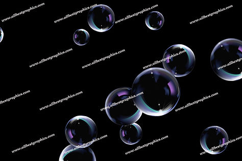Natural Soap Bubble Overlays | Fantastic Photo Overlays on Black