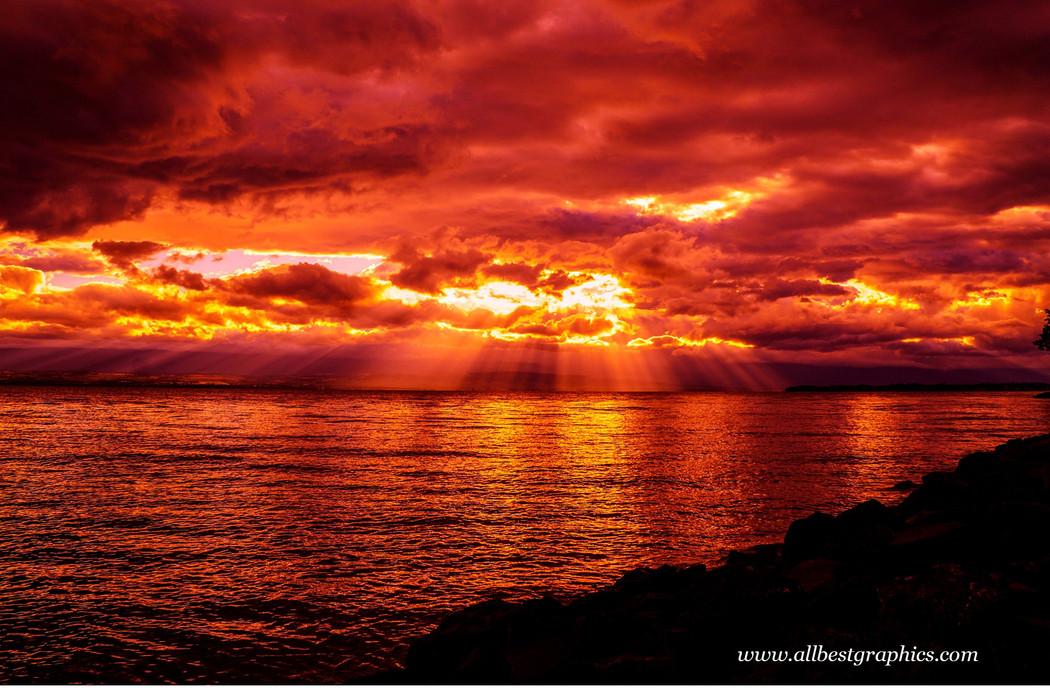 Glorious fluffy sunset overlay | Photoshop overlays