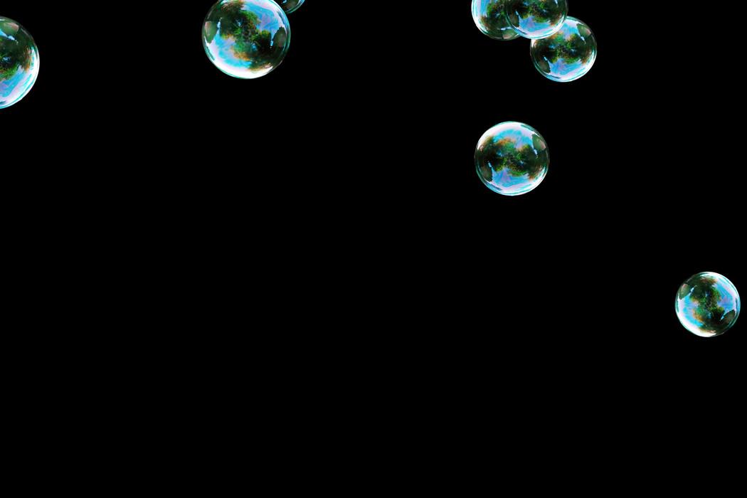 Unbelievable realistic soap bubbles on black background | Photoshop Overlay