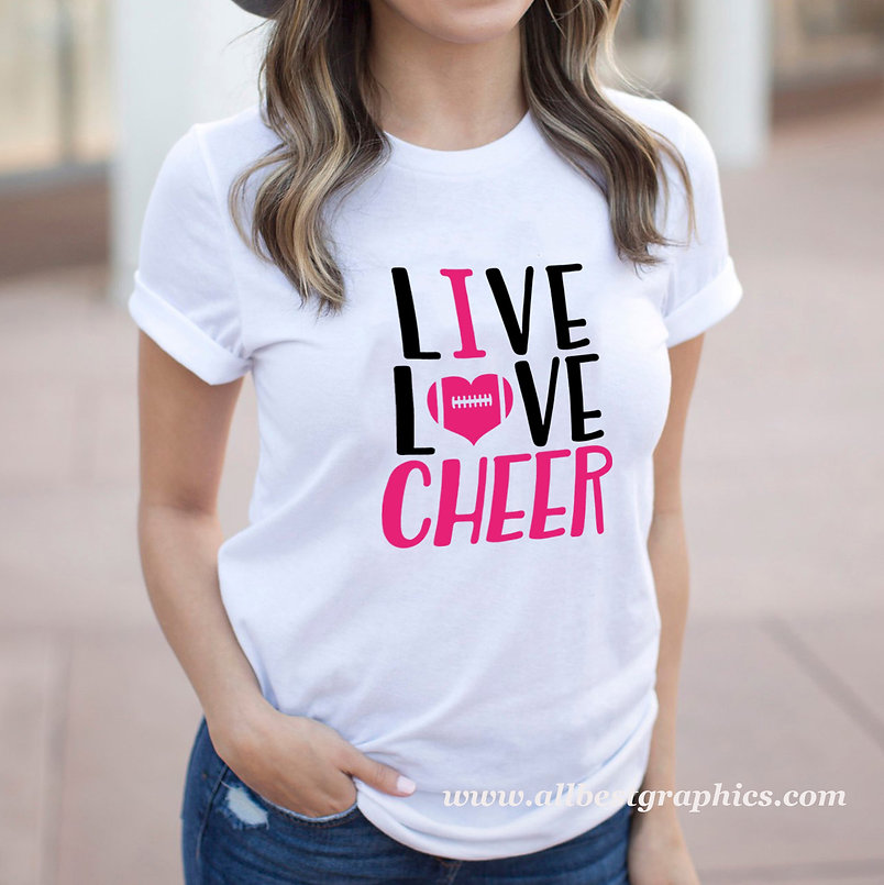 Live Love Cheer | Cool Sport Quotes & Signs in Eps Svg Png Dxf