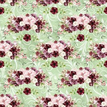Gorgeous watercolor digital paper with floral design | Printable Digital Paper
