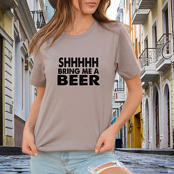 Shhhhh bring me a beer SVG | Printable Cool T-shirt Quotes for Silhouette Cameo
