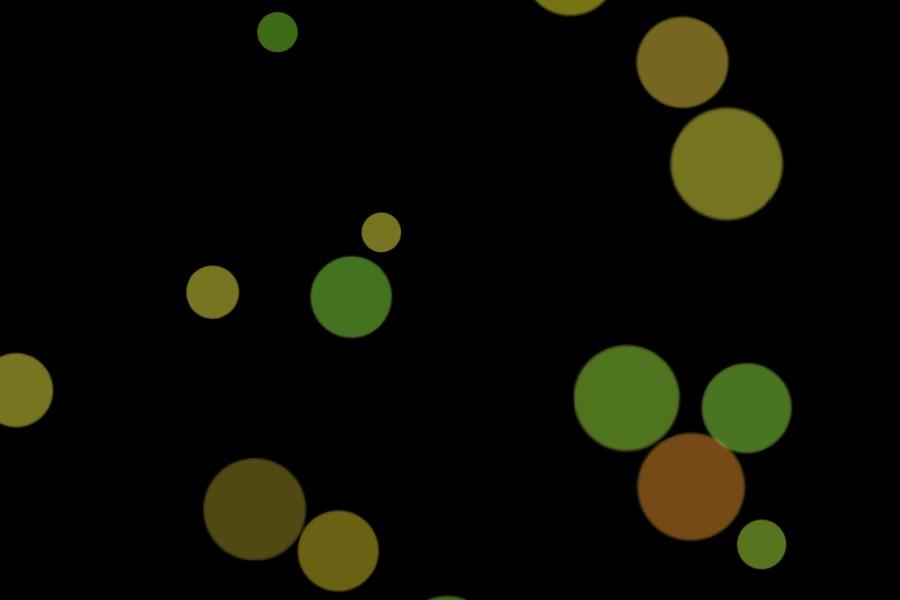 Beautiful Night Light Bokeh Effect on black background | Free Overlays