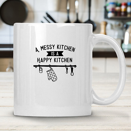 A Messy Kitchen Is a Happy Kitchen | Kitchen Signs for Silhouette Cameo