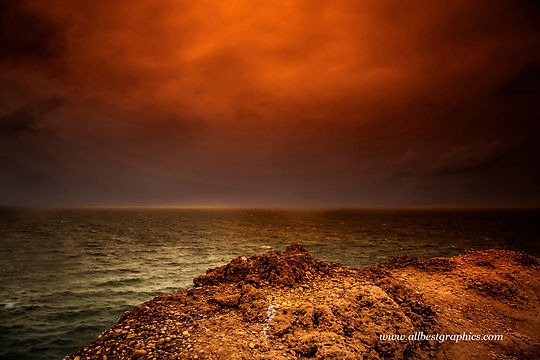 Whimsical spectacular sunset background with clouds | Photo overlays