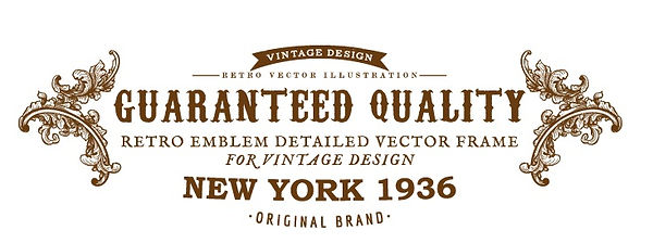 Retro emblem detailed vector frames for vintage design original brand New York 1936