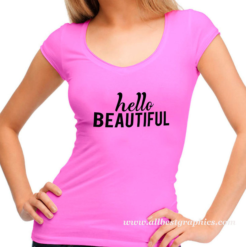 Hello beautiful | Sassy T-shirt Quotes for Silhouette Cameo and Cricut
