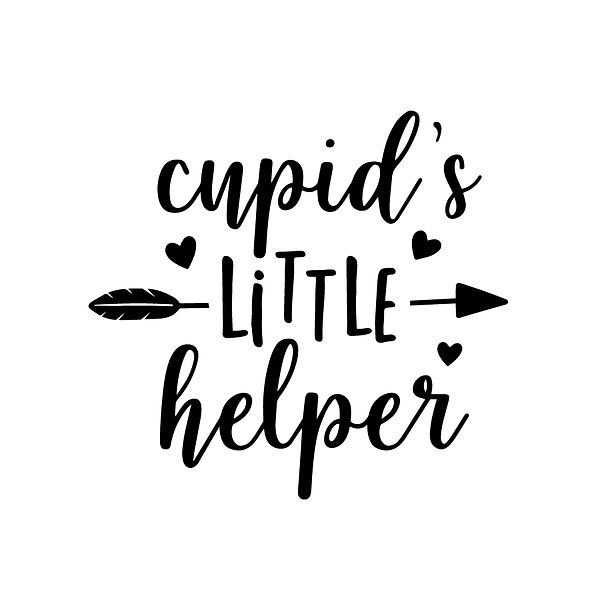 Cupid's little helper Png | Free download Printable Funny Quotes T- Shirt Design in Png