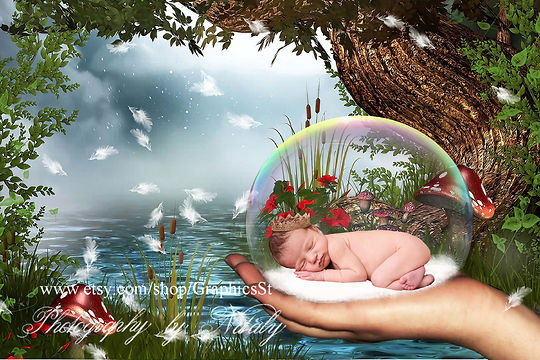 Pretty Newborn Digital Backdrop | Newborn background