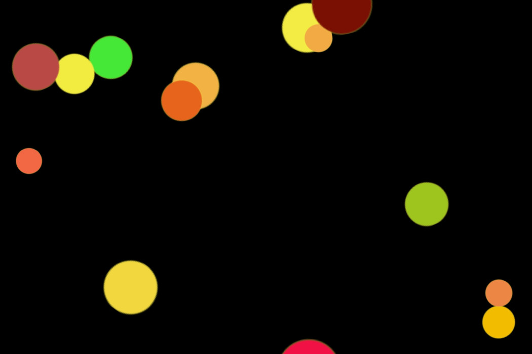Colorful Holiday Light Bokeh Clip Art on black background   Photo Overlays