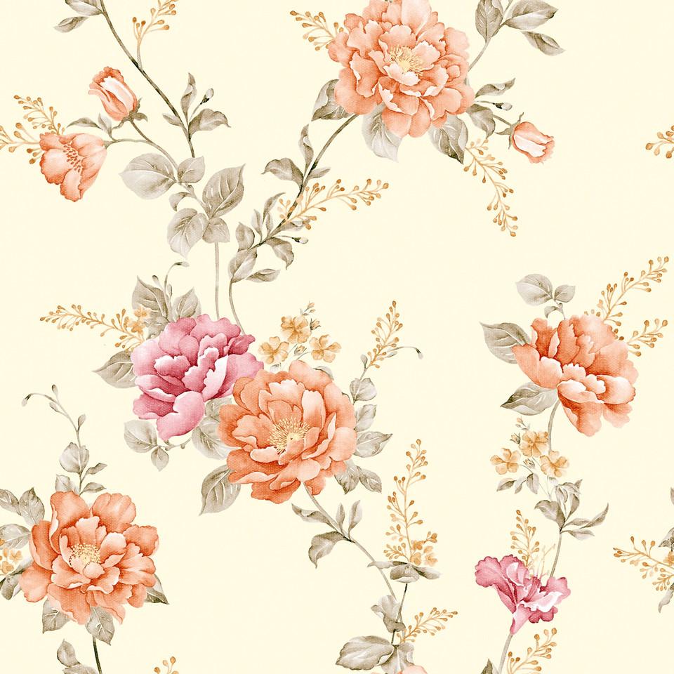 Spring floral digital paper with pastel flowers | Fine Art Digital Paper