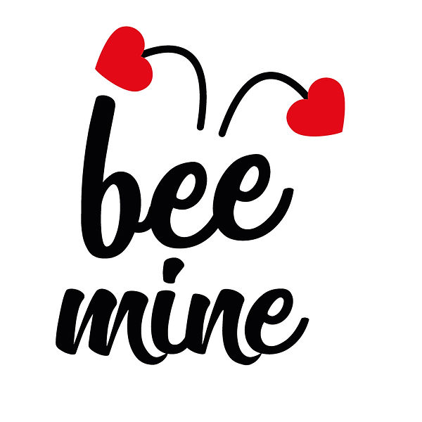 Bee mini heart | Free Iron on Transfer Funny Quotes T- Shirt Design in Png