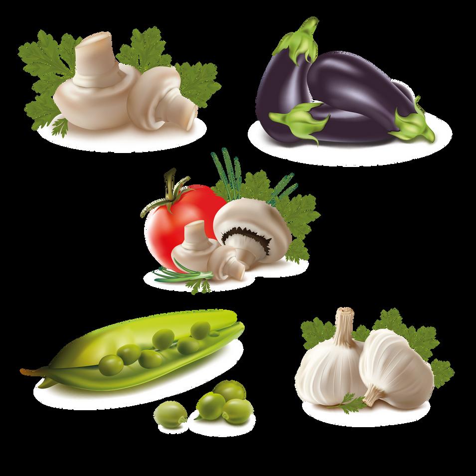 Mushroom Pea Tomato | Food clipart free download -size 2400x2400 300ppi