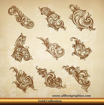 Acanthus leaves vector set | Victorian Decorative elements_90326.002