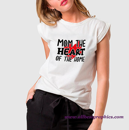 Mom The Heart of The Home | Cool Mom Quotes & Signs Cut files in Dxf Eps Svg
