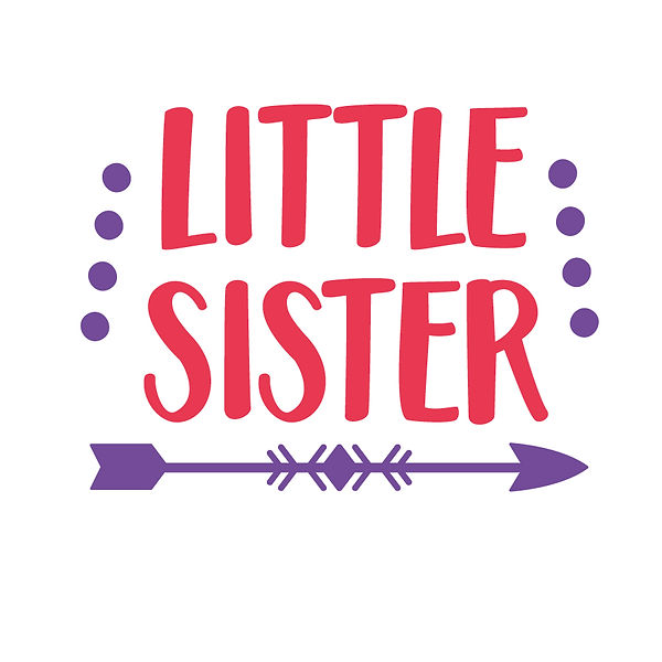 Little sister arrow Png | Free Printable Sassy Quotes T- Shirt Design in Png