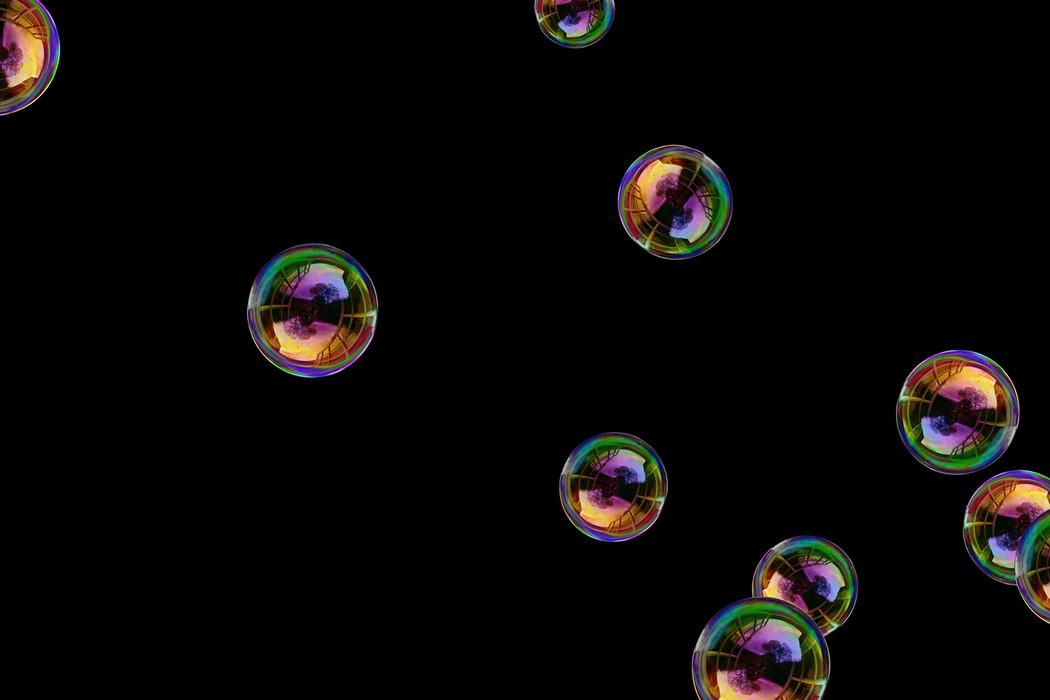 Wonderful realistic soap bubbles on black background | Overlays for Photoshop
