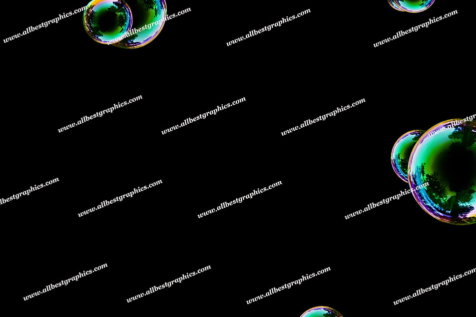 Summer Colorful Bubble Overlays | Incredible Photo Overlay on Black