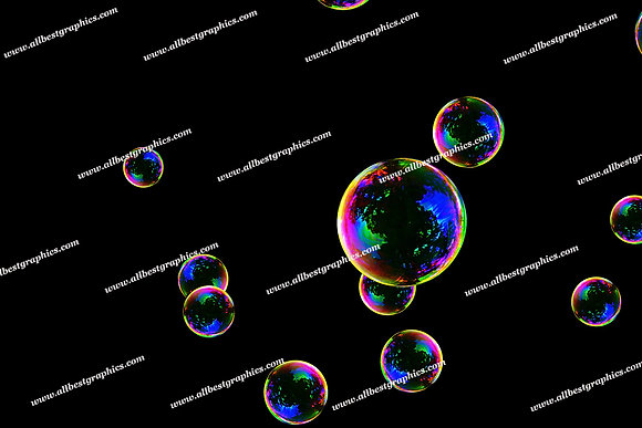 Natural Bathroom Bubble Overlays | Professional Photoshop Overlays on Black