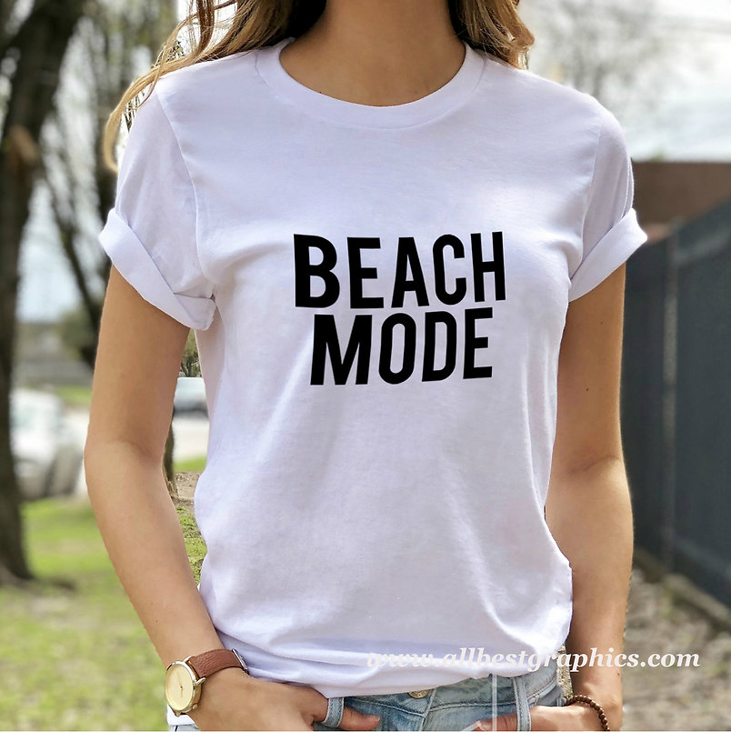 Beach mode   Funny T-shirt Quotes for Silhouette Cameo and Cricut