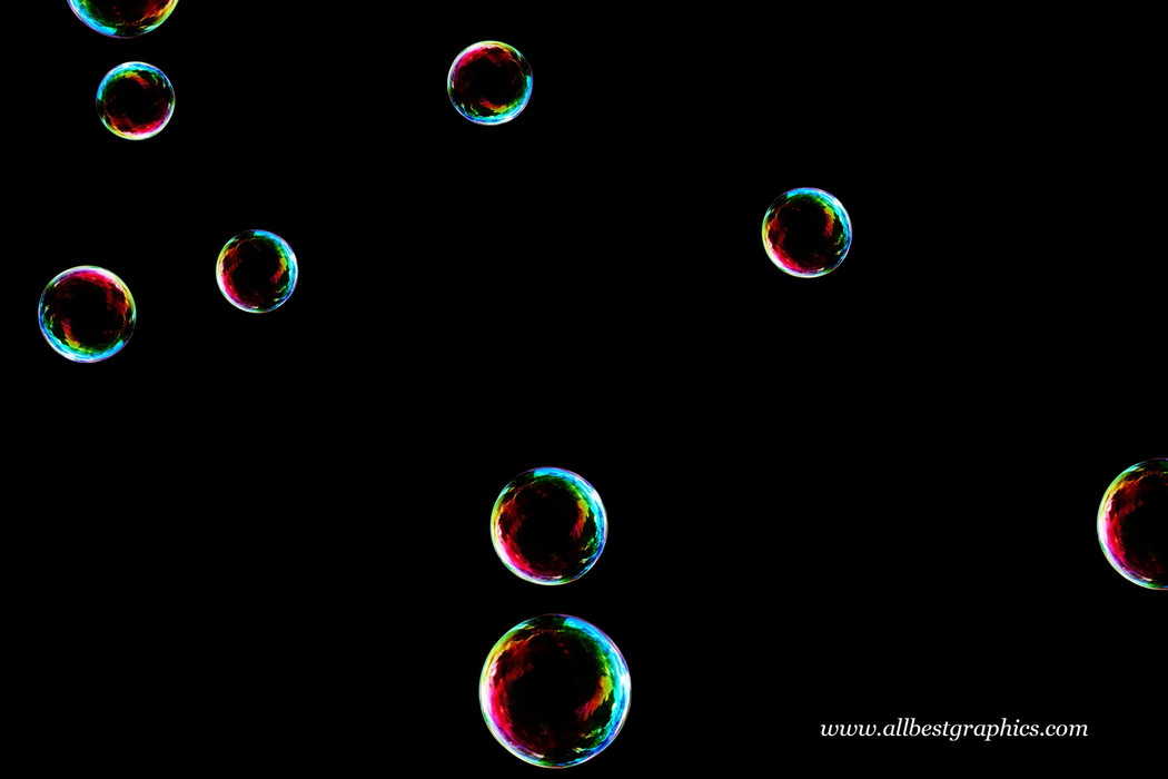 Dreamy bathroom soap bubbles on black background | Bubble Photoshop Overlay