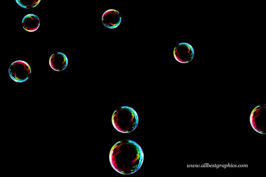 Dreamy bathroom soap bubbles on black background   Bubble Photoshop Overlay