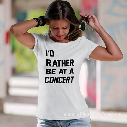 I'd rather be at a concert | Sassy T-Shirt Quotes Cut files in Svg Dxf Eps