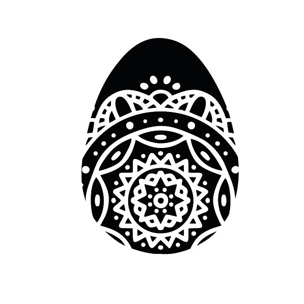 Bottom mandala egg | Free download Iron on Transfer Sassy Quotes T- Shirt Design in Png