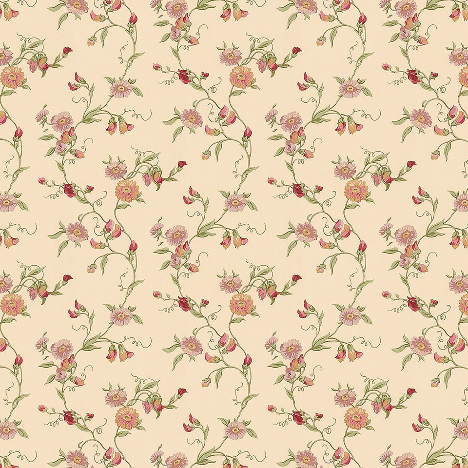 Retro floral digital paper with peonies | Handmade Digital Paper